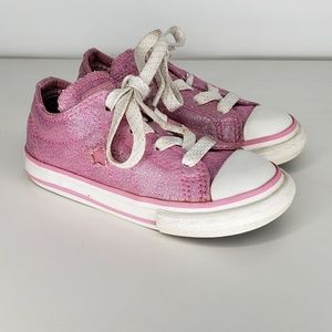 Converse All Star One Sneakers Pink Glitter Size 7